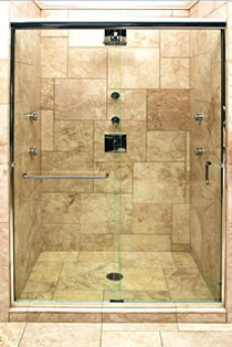 Frameless Sliding Shower Door.